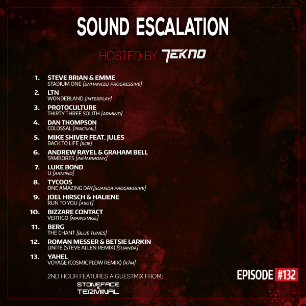 TEKNO pres. Sound Escalation 133 with Stoneface & Terminal